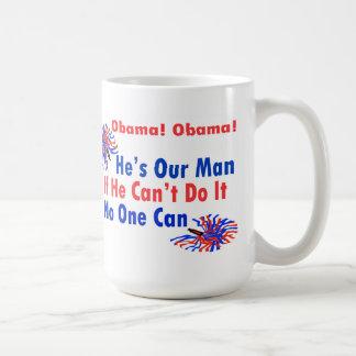 Obama Pom Poms Cheer Coffee Mug