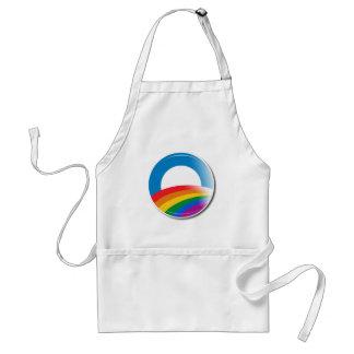 Obama Pride Button Adult Apron