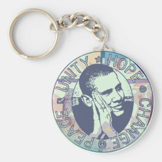 Obama Unity, Hope, Change and Peace 2012 Key Ring