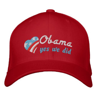 Obama, yes we did embroidered baseball cap