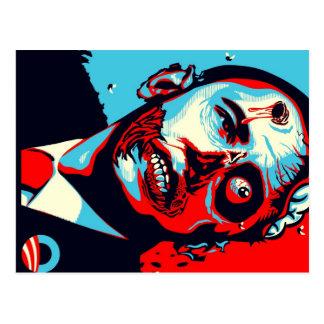 obama zombie postcard