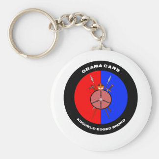 Obamacare A Double-Edged Sword (Swords) Basic Round Button Key Ring