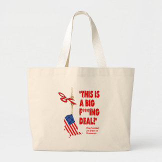 Obamacare Big Deal Hanging By A Thread Tote Bag