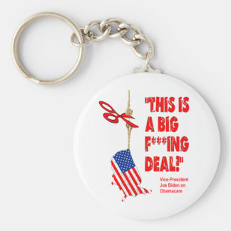 Obamacare Big Deal Hanging By A Thread Basic Round Button Key Ring