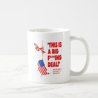 Obamacare Big Deal Hanging By A Thread Basic White Mug