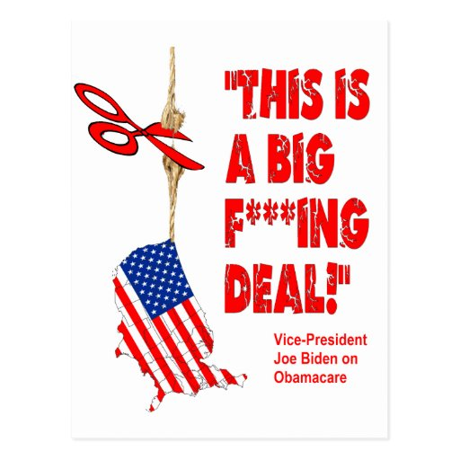 Obamacare Big Deal Hanging By A Thread Post Cards