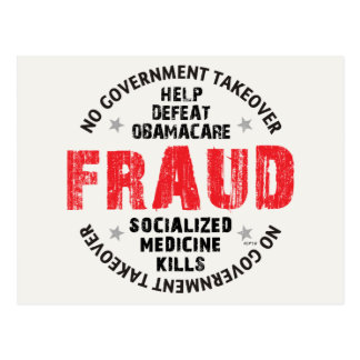 Obamacare Fraud Postcard
