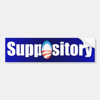 ObamaCare is a Suppository Car Bumper Sticker