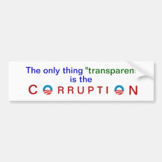 Obama's corrupt transparency bumper stickers