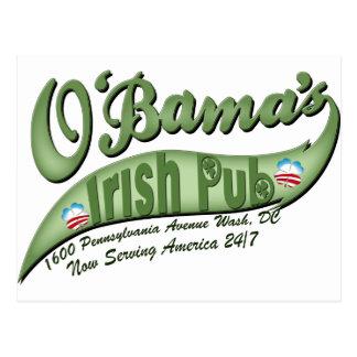 O'bama's Irish Pub Postcard