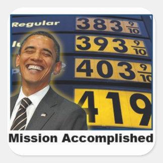 Obama's Skyrocketing Gas Prices Square Sticker