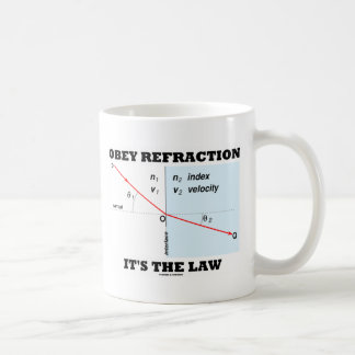 Obey Refraction It's The Law (Optics Snell's Law) Coffee Mug