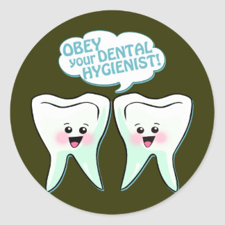Obey The Dental Hygienist Classic Round Sticker
