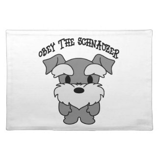 Obey The Schnauzer Placemat