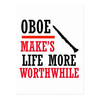 oboe design postcard
