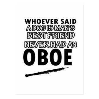 oboe  designs postcard
