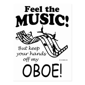Oboe Feel The Music Postcard