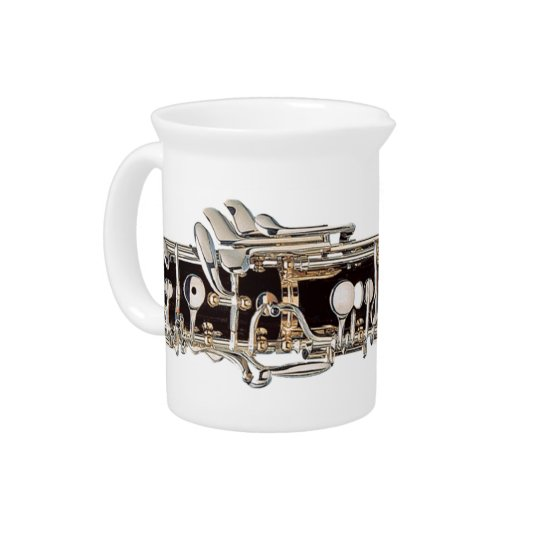 Oboe Keys Creamer Pitcher