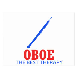 Oboe Musical designs Postcard