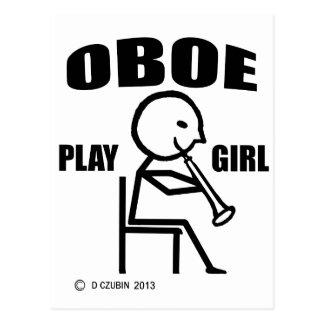 Oboe Play Girl Postcard