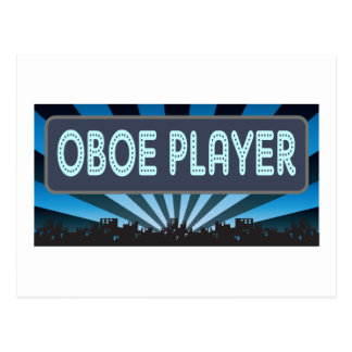 Oboe Player Marquee Postcard