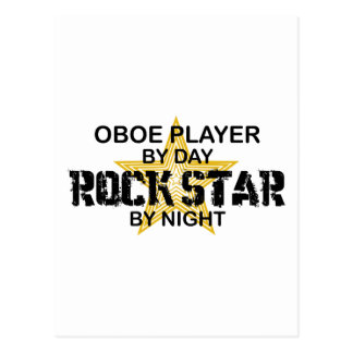 Oboe Rock Star by Night Postcard