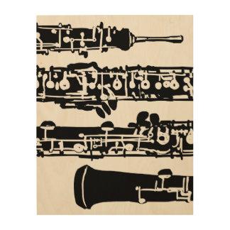 "Oboe Wood Panel | 11"" x 14"" Wood Canvas"