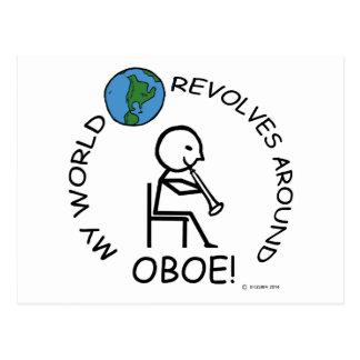 Oboe - World Revolves Around Postcard