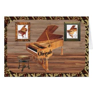 Obrigado com Piano Card