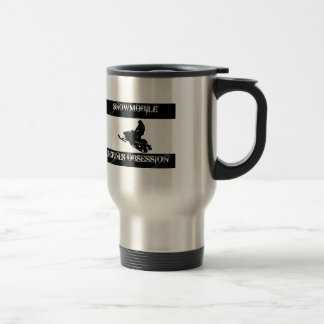 obsessed with snowmobile travel mug