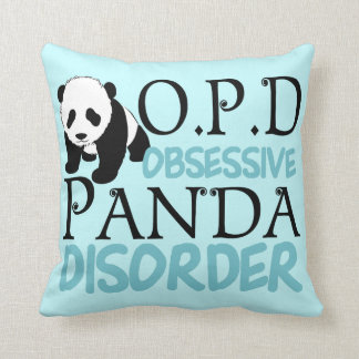 Obsessive Panda Disorder Cushion