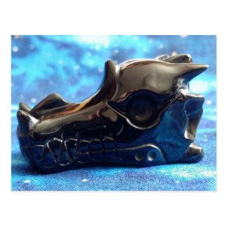 Obsidian Dragon Skull Postcard