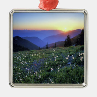 Obstruciton Point Sunset, Olympic NP, WA, USA Christmas Ornament