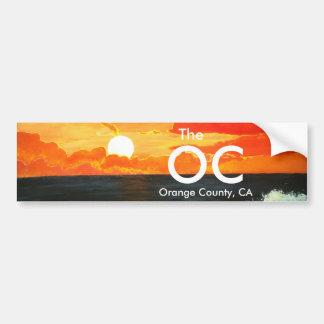 OC Orange County California Bumper Sticker Art