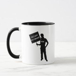 Occupy Baltimore Sign Mug