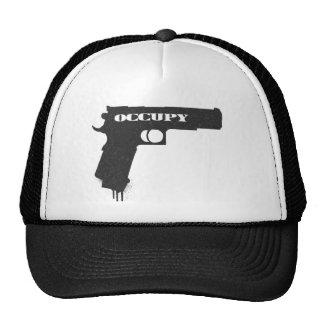 Occupy Rubber Bullet Gun Black Cap