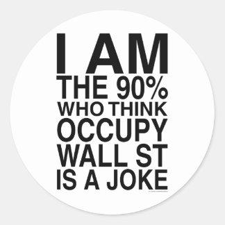 Occupy Wall Street Classic Round Sticker