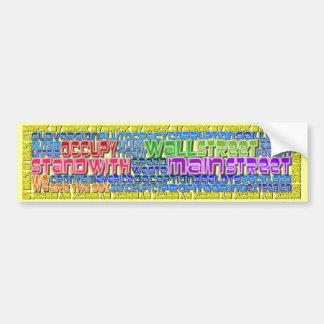 Occupy Wall Street FIGHT Greed Corruption Design Bumper Sticker