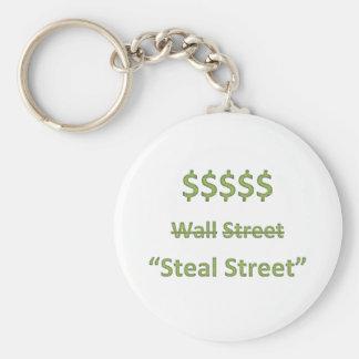 Occupy Wall Street Retro Key Ring