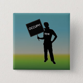 Occupy!  We Are The 99% 15 Cm Square Badge