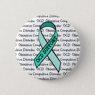 OCD Obsessive Compulsive Disorder Awareness Ribbon 6 Cm Round Badge