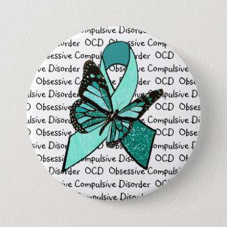 OCD Obsessive Compulsive Disorder Awareness Ribbon 7.5 Cm Round Badge