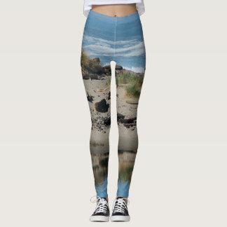 Ocean Beach Driftwood All Over Print Leggings