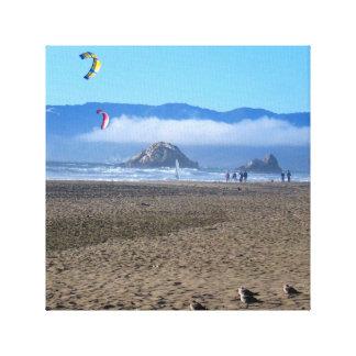 Ocean Beach, San Francisco Stretched Canvas Print