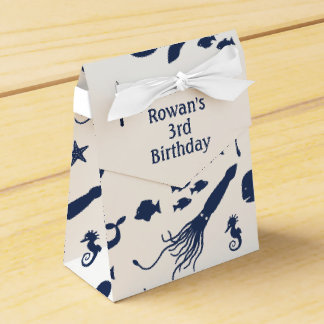 Ocean Birthday Favor Box with custom text Favour Boxes