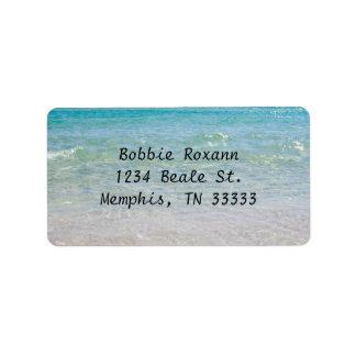 Ocean Blue Address Address Label