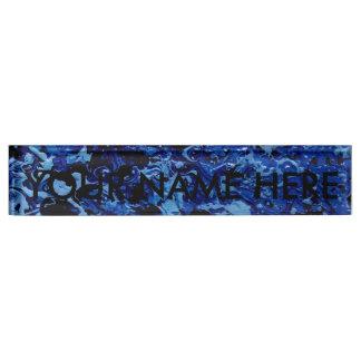 OCEAN DEEP (an abstract art design) ~ Nameplate