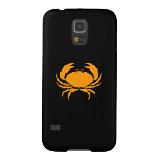 Ocean Glow_Orange on Black Crab Cases For Galaxy S5