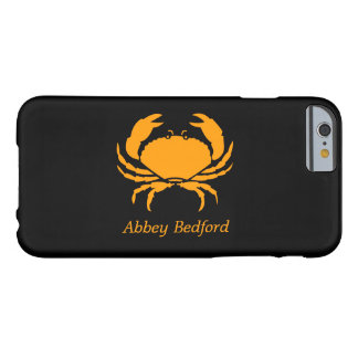 Ocean Glow_Orange on Black Crab_personalized Barely There iPhone 6 Case