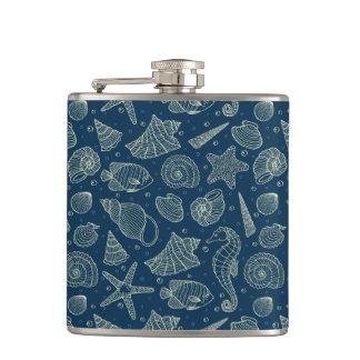Ocean Inhabitants Pattern 2 Hip Flask